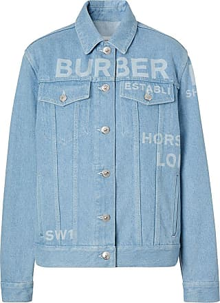 Burberry Jaqueta jeans Horseferry com estampa - Azul