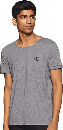 Calvin Klein Jeans Mens Grindle RAW Edge TEE T-Shirt, Grey (Abstract Grey Pp3), Large (Size:L)