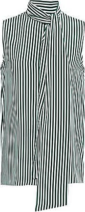 Joseph Joseph Woman Pussy-bow Striped Silk Blouse Emerald Size 42