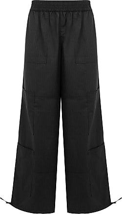 Wales Bonner Calça pantalona listrada - Preto