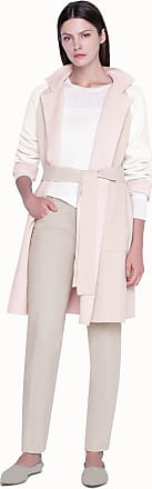 Akris Double-face Knit Coat in Cashmere with Stand Up Collar