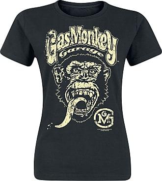 Svart Gas Monkey Garage T Shirts Med Tryck: Handla från 199