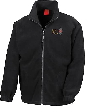 Military Online Princess of Wales Royal Regiment PWRR Colours Embroidered Logo - Official Full Zip Heavyweight Fleece Jacket