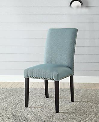 ACME ACME Gregory Light Green Linen Side Chair Set of 2