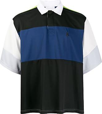 Koché Camisa polo color block - Preto