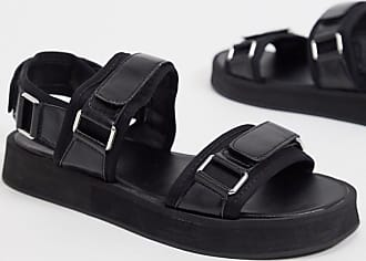 Missguided sandals with buckle detail in black
