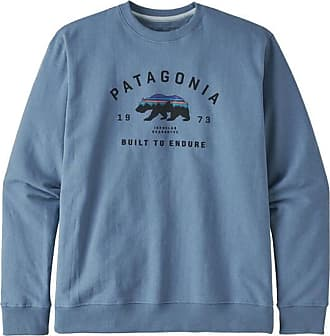 Patagonia Herren gewölbt Fitz Roy Bär Uprisal Crew Sweatshirt Pigeon Blue Pgbe - M
