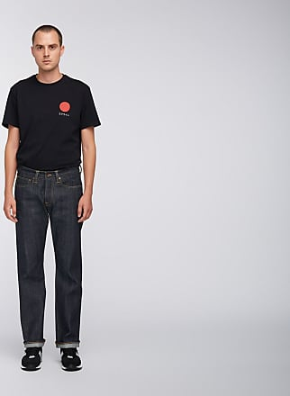 Edwin ED 47 Red Listed Selvedge Denim Blue Unwashed Men Jeans - 28-34