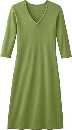 Enna Shirtkleid mit V-Ausschnitt aus Bio-Baumwolle, kiwi