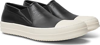 Rick Owens Boat Leather Slip-on Sneakers - Black