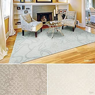 Nourison Rug Squared Monroe Contemporary Area Rug (MOE12), 8-Feet by 10-Feet 6-Inches, Latte