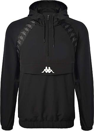 Kappa Mens 222 Banda Bakit Jacket, Black, S
