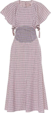 Rosie Assoulin Venn Diagram checked wool dress