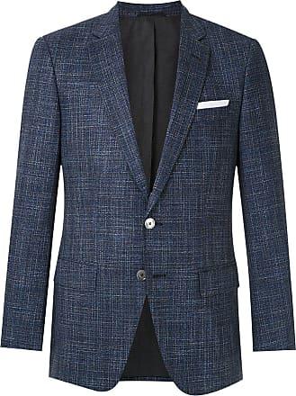 BOSS Blazer tweed com abotoamento - Azul