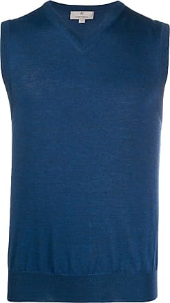 Hajo XXL V-Neck Pullunder Pima Cotton in jeansblau