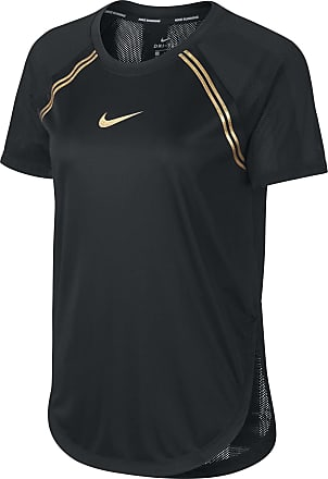 Nike Short-Sleeve Running Top Bekleidung Damen schwarz