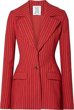Rosie Assoulin Blaze Your Saddles Striped Cotton-blend Jacquard Blazer - Red