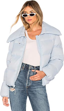 Kendall + Kylie Puffer Jacket in Baby Blue