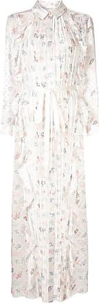 Huishan Zhang Vestido longo floral - Branco