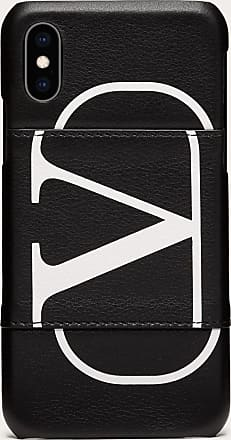Valentino Garavani Valentino Garavani Uomo Vlogo Smartphone Case Man Black Calfskin 100% OneSize
