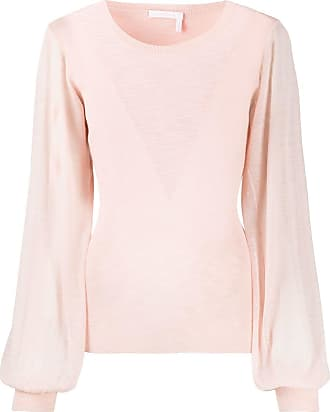 See By Chloé long-sleeve fitted jumper - Rosa