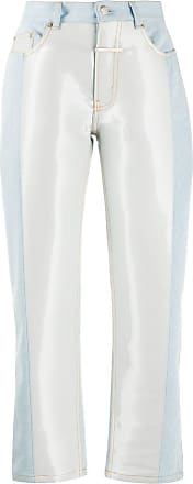 Zilver abstract-print denim jeans - Blue