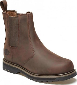 Dickies Trinity Dealer Boot, Leather, Non-Safety, Size 6-12 UK Brown