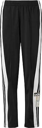 adidas Originals Adibreak Striped Satin-jersey Track Pants - Black