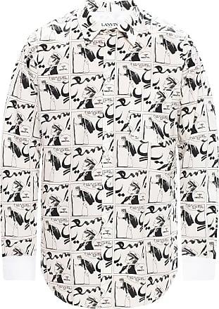 Lanvin Printed Shirt Mens White