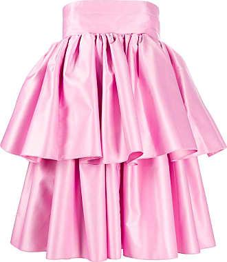 Rotate Vestido godê com babados - Rosa