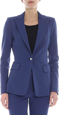 Pinko Signum 6 jacket in blue Milano fabric