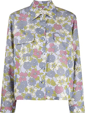 Ymc You Must Create floral print shirt - Blue