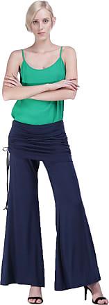Amazônia Vital Calça Pantalona Amazonia Vital com Saia Drapeada Marbella Blue Cor:Azul;Gênero:Feminino;Tamanho:M