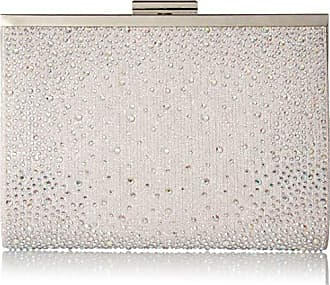 Jessica McClintock Womens McKayla N/S Frame Sparkle Clutch, silver iridescent