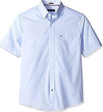 65994c2b3 Tommy Hilfiger Mens Big and Tall Short Sleeve Button-Down Shirt, Danish  Blue,