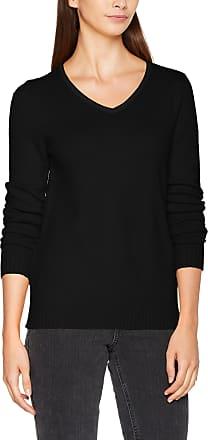 Vila Womens Viril L/s V-Neck Knit Top-noos Jumper, Black, 34 (Size: X-Small)