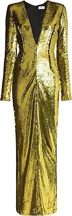 Alexandre Vauthier Vestido de festa bordado com paetês - Amarelo