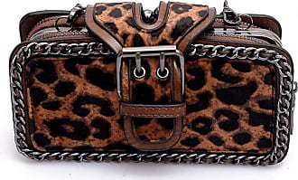 YYW Womens Leopard Clutches Crossbody Bag Suede Handbag Leopard Print Shoulder Bag Mini Purse for Party Cocktail Dating brown Size: One size