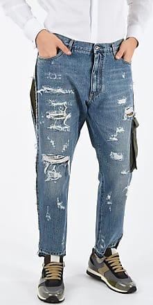 Dolce & Gabbana CROPPED ripped straight fit jeans 19 cm Größe 52