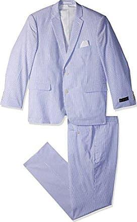 U.S.Polo Association Mens Cotton Suit, Blue/White, 46 Short