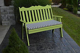 A & L Furniture A & L Furniture 855-LM Lime Poly Royal English Bench, Lime