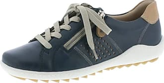 Remonte R1417-14 Ladies Navy Lace Up Trainers