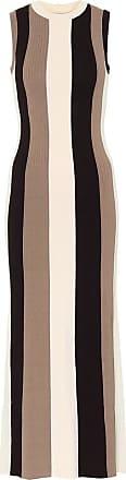 Ami Striped ribbed-knit maxi dress