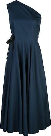 Rosetta Getty Vestido midi ombro único - Azul