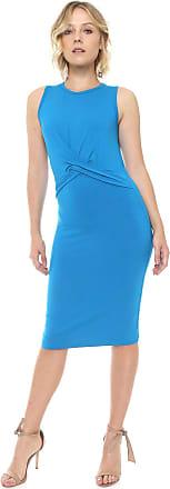 Colcci Vestido Colcci Midi Torção Azul