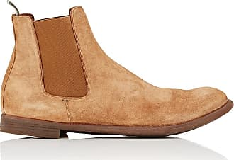 3a3d66a254e31 Officine Creative Mens Washed Suede Chelsea Boots - Dk. brown Size 10.5 M