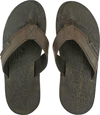 Urban Beach Mens Thar Brown Leather Toe Post FLIP Flop Beach Sandals-UK 9 (EU 43/44)