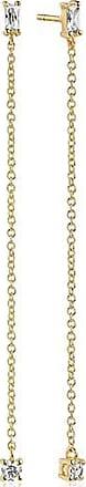 Sif Jakobs Jewellery Ohrringe Princess Baguette Lungo - 18K vergoldet mit weißen Zirkonia