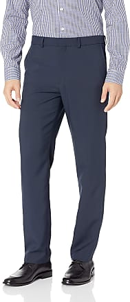 Dockers Mens Slim Fit Trouser with Stretch Waistband Business Casual Pants, Navy, 40W x 29L