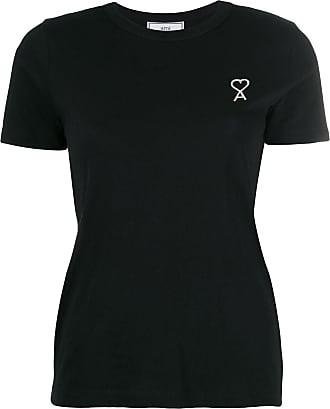 Ami Camiseta com logo bordado - Preto